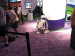 Even astromech droids need some game time, curtesy of XBox 360. Must be hard to play kinect with no arms.